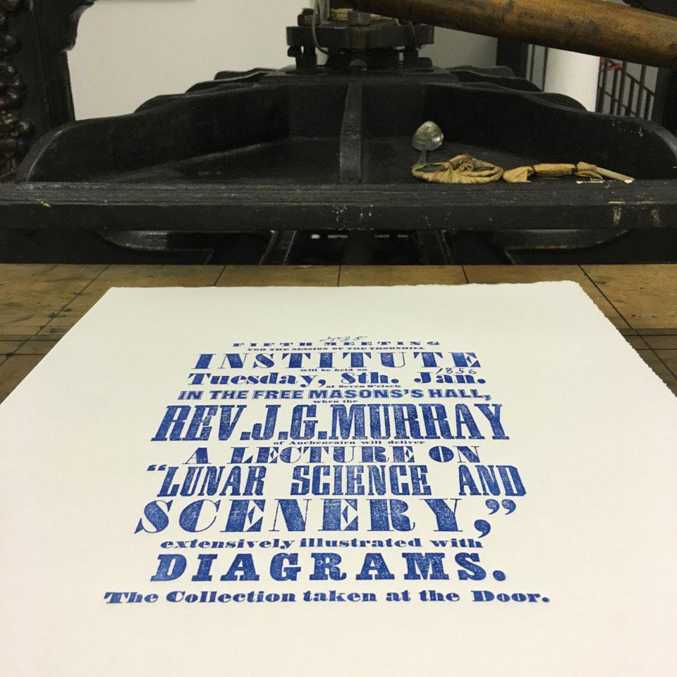 Letterpress bespoke poster