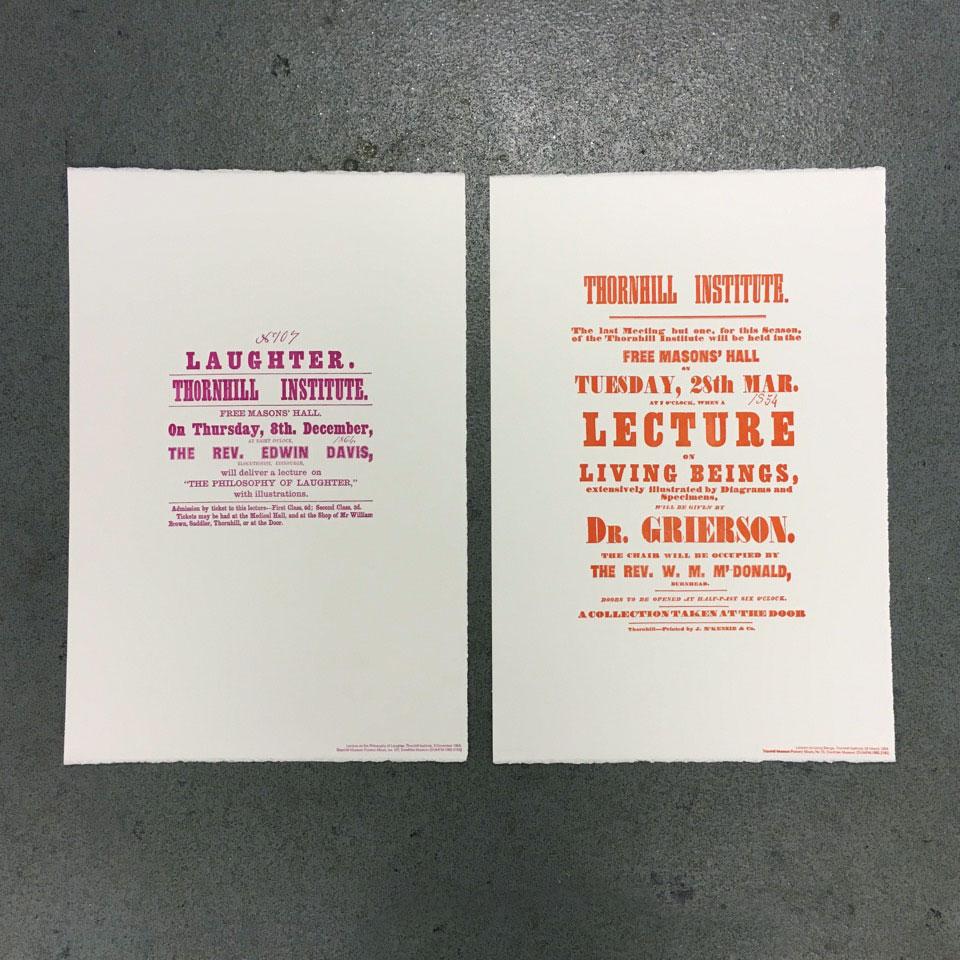 Bespoke Letterpress Posters