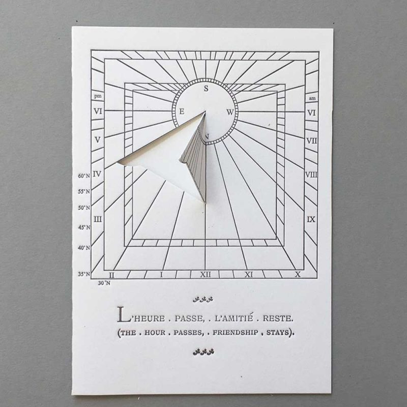 Sundial Mottoes 006 - the hour passes friendship stays
