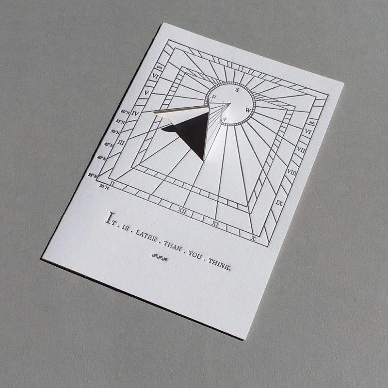 Sundial Motto Card