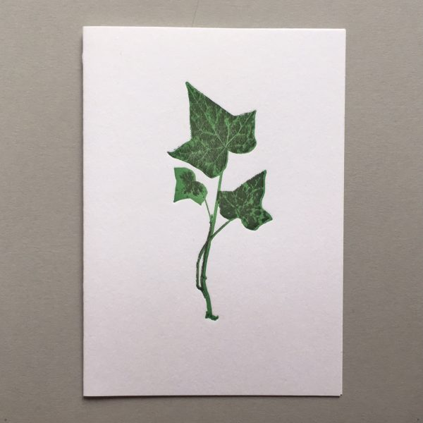 Leaf Letterpress card Royal botanic garden edinburgh ivy