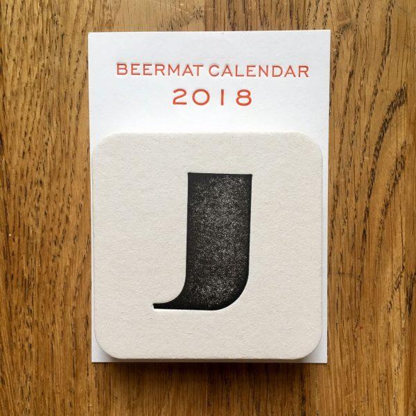 Beermat calendar 2018