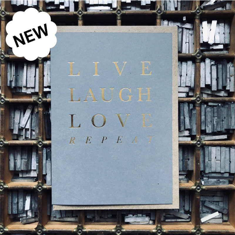 new hearth & home letterpress greeting card range